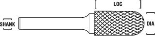 Carbide Cylindrical Radius Burrs